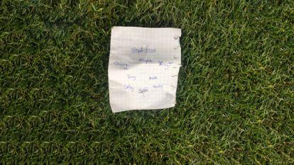 Spiekbriefje uit Nations League-duel van Oranje levert 35.000 euro op