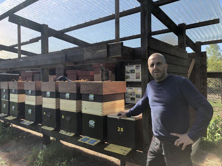 In totaal telt kinderboerderij 't Gulderijtje zowat 30 bijenkasten.