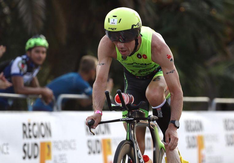 Frederik Van Lierde in de Ironman van Nice