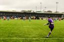 Actiebeeld van Carrick Rangers FC tegen Coleraine.