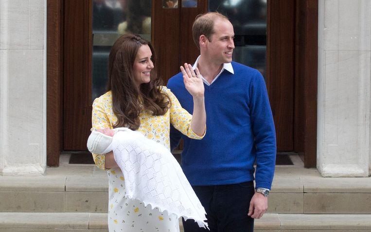 Kate en William na de geboorte van prinses Charlotte.
