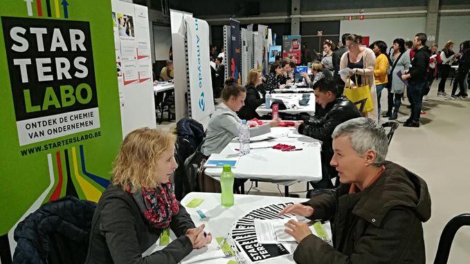 Grote belangstelling voor Jobbeurs in Stadsfeestzaal
