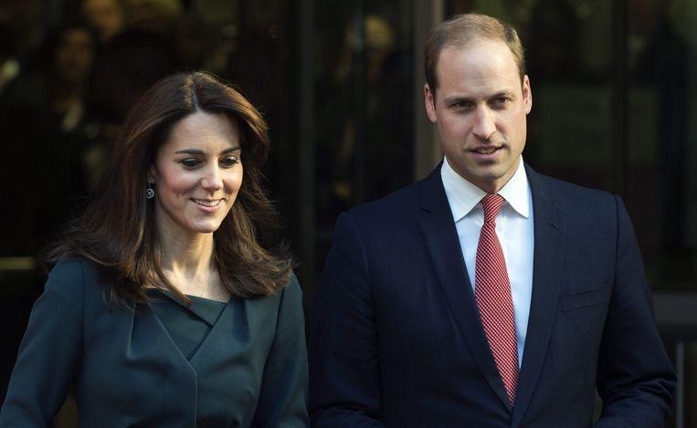 Prins William en zijn vrouw Kate Middleton.