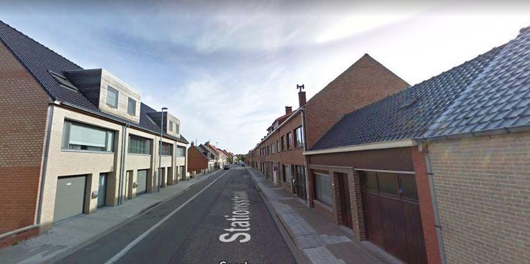 De Stationsstraat in Eernegem