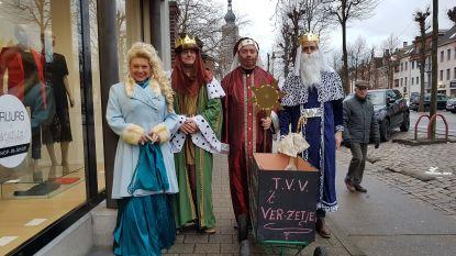 Drie koningen en koningin zingen 2.621 euro bij elkaar