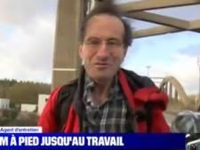 Après son travail, il marche 30 km pour rentrer chez lui pendant la grève en France