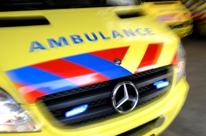 2012-03-19 10:55:47 LEIDEN - MODEL RELEASED - Het logo van een ambulance. ANP XTRA LEX VAN LIESHOUT