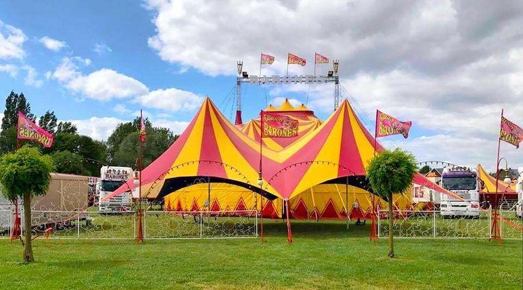 Circus Barones, hier op een andere locatie, is dit jaar niet welkom op de parking van het zwembad in Zaventem.