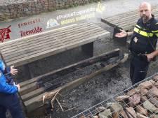 Picknickbank van 2000 euro in de brand gezet in Zeewolde