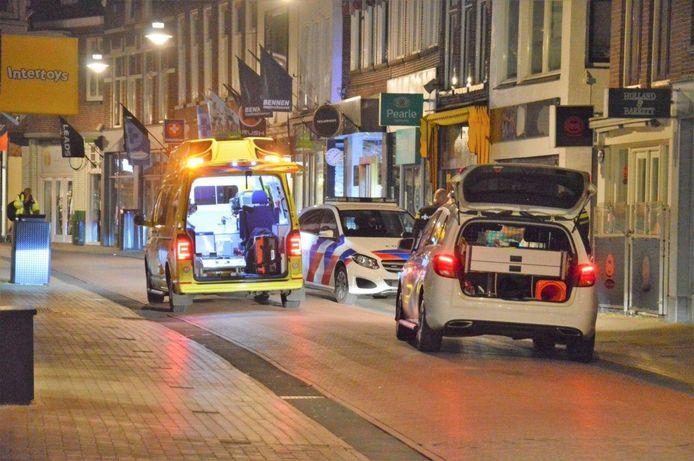 In de Oosterstraat in Steenwijk was een schietpartij.