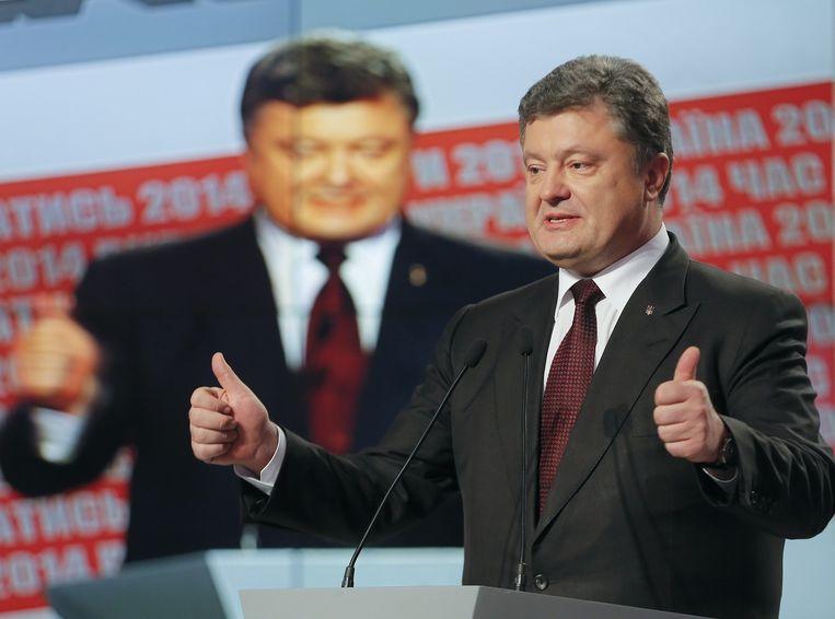 De Oekraïense president Porosjenko. Beeld epa