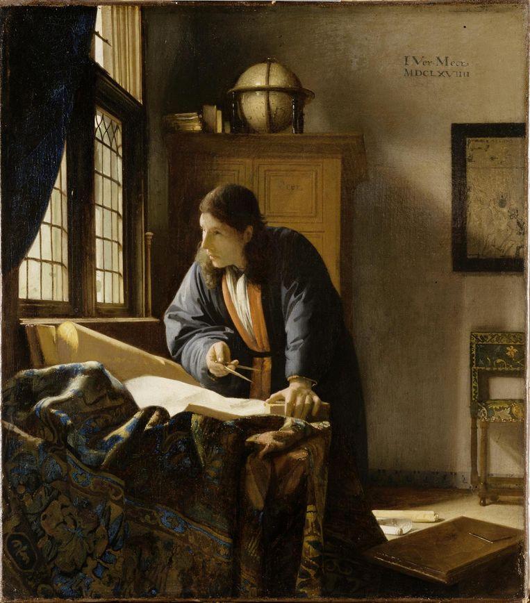 De geograaf van Johannes Vermeer Beeld Städel Museum