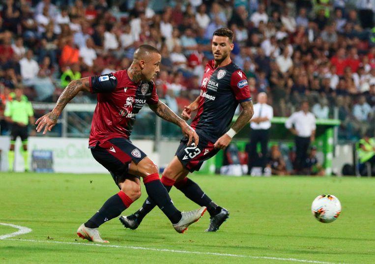 Nainggolan in actie tegen Brescia.