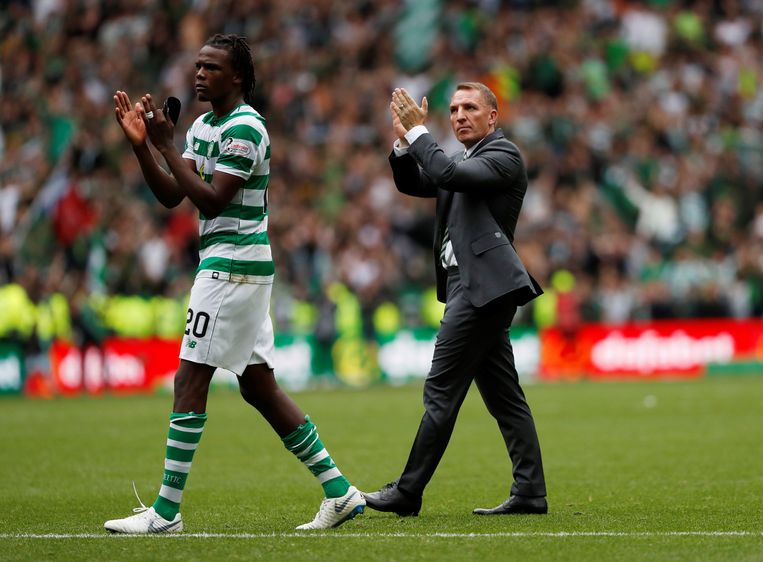Brendan Rodgers met Dydrick Boyata bij Celtic.