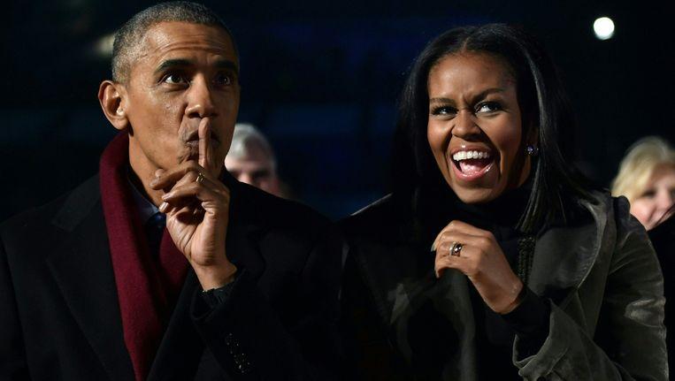Barack en Michelle Obama. Beeld AFP