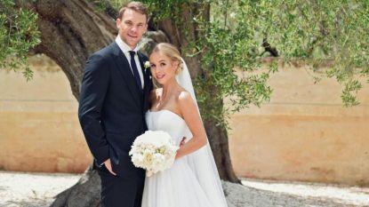 Manuel Neuer stapt (op krukken) in huwelijksbootje met beeldschone Nina