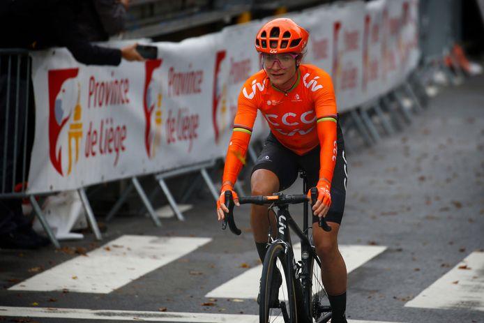 Marianne Vos in actie tijdens Luik-Bastenaken-Luik.