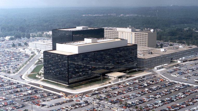 Het NSA-hoofdkwartier in Fort Meade in de Amerikaanse staat Maryland.