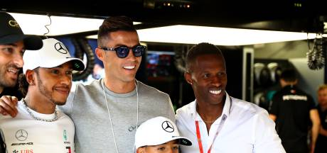 Ronaldo op bezoek bij Hamilton en co