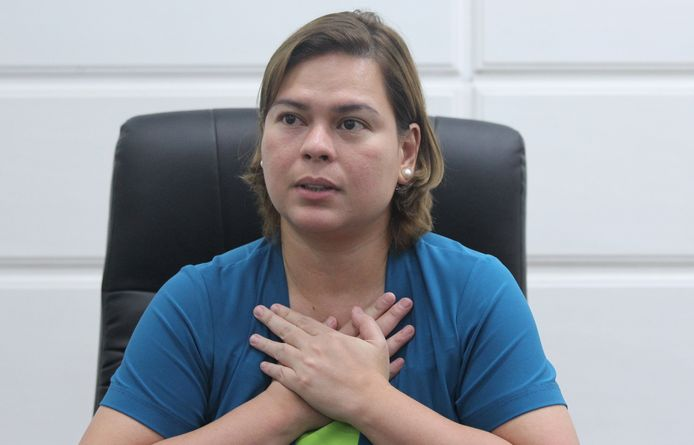 Sara Duterte, dochter van Filipijnse president Rodrigo Duterte.