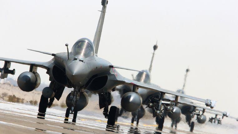 Franse straaljagers van het type Rafale. Beeld ap