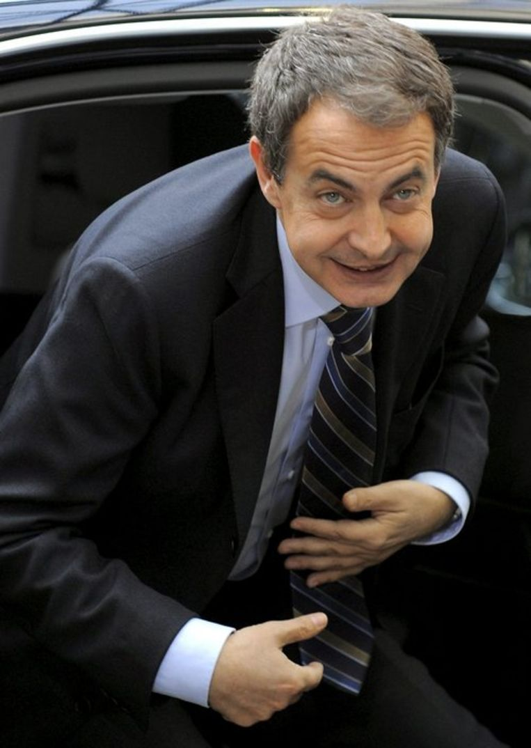Lafuente liet aan het begin van de Spaanse Burgeroorlog de grootvader van de huidige premier José Luis Rodríguez Zapatero executeren. Foto EPA/Benoit Doppagne Beeld