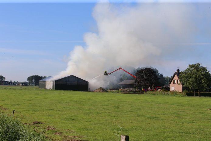 Brand in schuur Delwijnen.