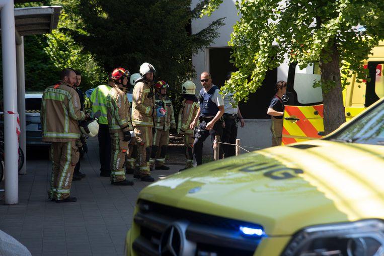 Ongeval in station Kwatrecht : hulpdiensten massaal aanwezig.