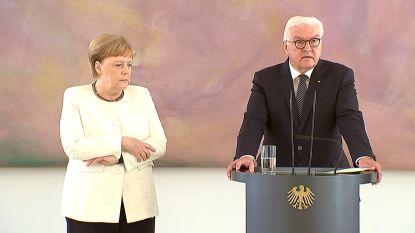 Angela Merkel begint opnieuw hevig te trillen bij aanstelling nieuwe minister