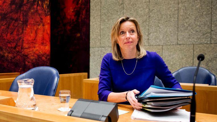 Kajsa Ollongren, minister van Binnenlandse Zaken, tijdens het debat over de intrekking van de Wet raadgevend referendum. Beeld anp