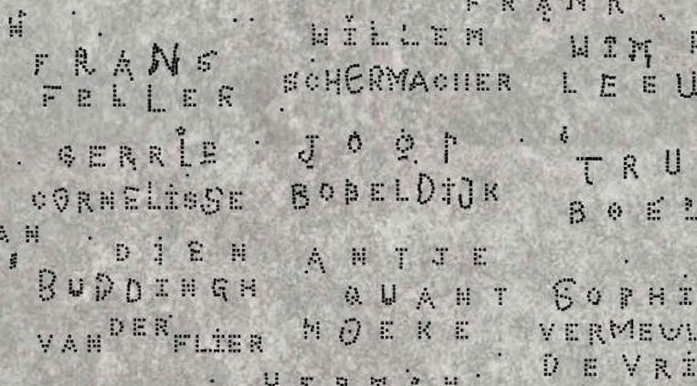 Een voorbeeld van hoe de plaquette er uit kan komen te zien. Beeld Plaatseensteen.nl