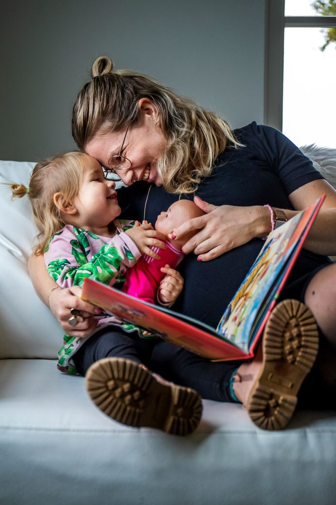 Elske Kolkman(30) met haar dochtertje Laure(2).