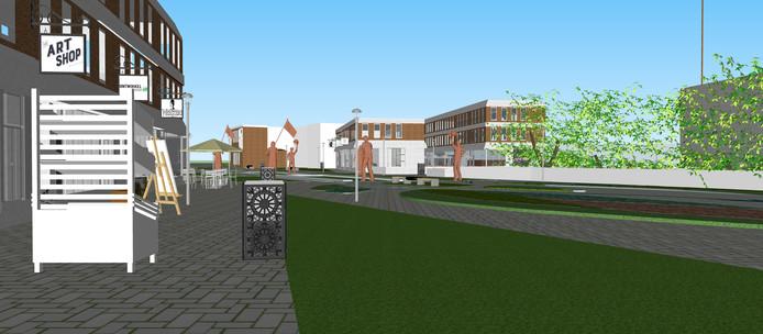 Liberation-virtual reality voor de Wageningse binnenstad tussen Stadsbrink en stadsgracht