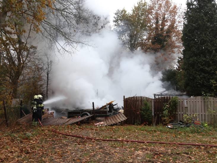 Chalet in brand op camping De Heische Tip in Zeeland