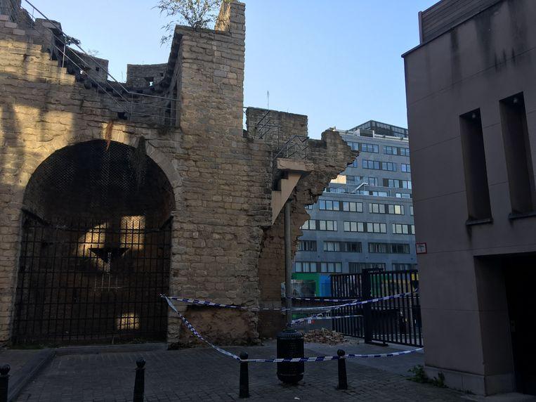 Stadsomwalling valt gedeeltelijk om in Brusssel