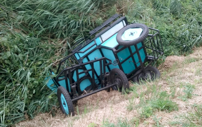 Ongeluk met paardenwagen bij Woensdrecht