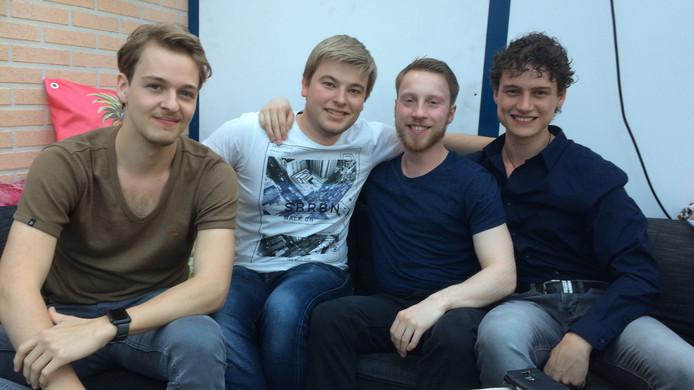 Rockband Spark of Sanity, van links naar rechts Laurens Lamberts, Nick Mastenbroek, Robin van Son en Bjorn Schouten