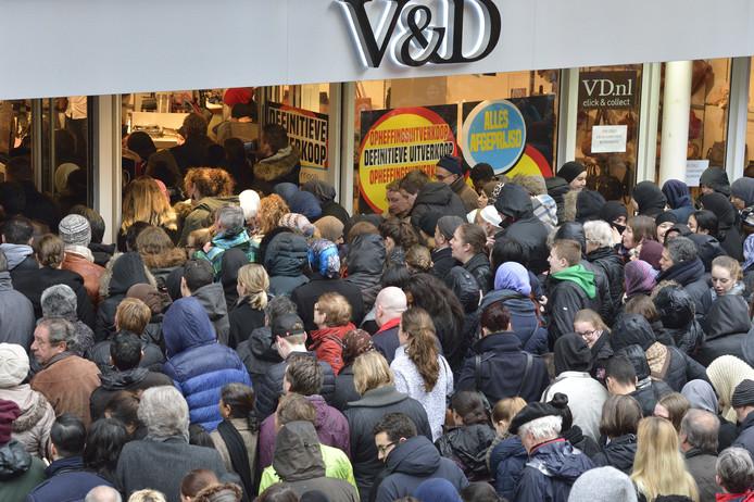 Zal het straks weer ouderwets druk worden in het voormalige pand van de V&D?