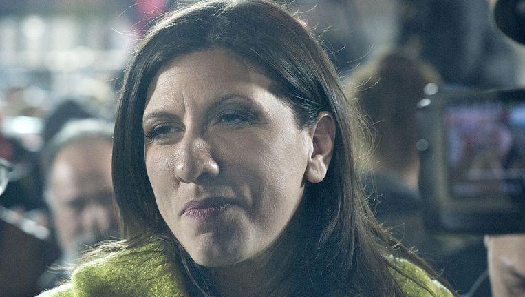 Zoe Konstantopoulou, de nieuwe voorzitter van het Griekse parlement.