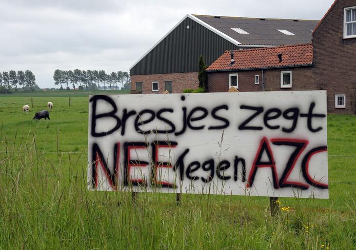 Inwoners van Breskens zijn tegen de komst van een azc.