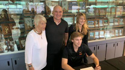 Beloftevolle zoon van gewezen tennistoppers Agassi en Graf beproeft zijn geluk in... honkbal