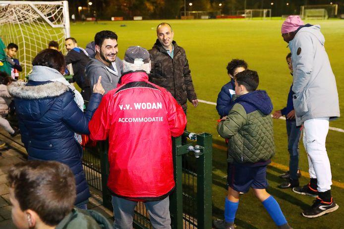 Spelers van Wodan tijdens de training donderdagavond