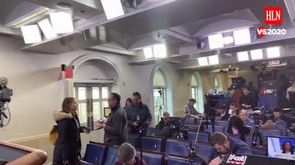 """Greet De Keyser toont ongebruikt perslokaal van het Witte Huis: """"Dient nu vooral om de camera's droog te houden"""""""
