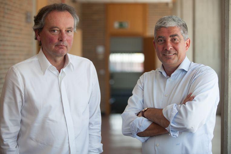 Voorzitter NV Plinius Guy Schiepers en algemeen-directeur van de stad Tongeren Luc Houbrechts Tongeren lichten de beslissing toe om de NV om te vormen tot een EVA zoals gevraagd door het huidig decreet op het lokaal bestuur.