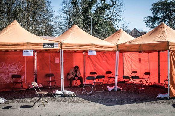 Een huisartsen-triagepost in Diest (Vlaams-Brabant). (achieffoto)