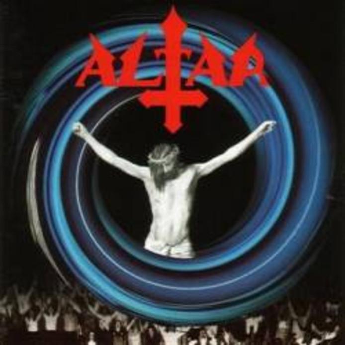 De lp-hoes van Youth Against Christ, het debuutalbum van Altar.