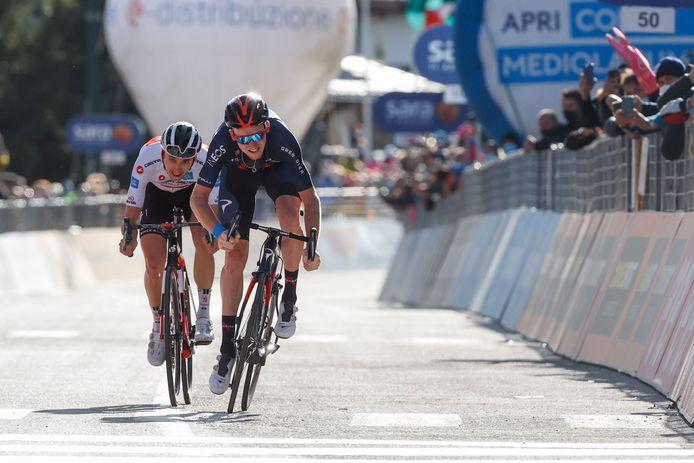 Tao Geoghegan Hart en Jai Hindley maken het bijzonder spannend in de Giro.