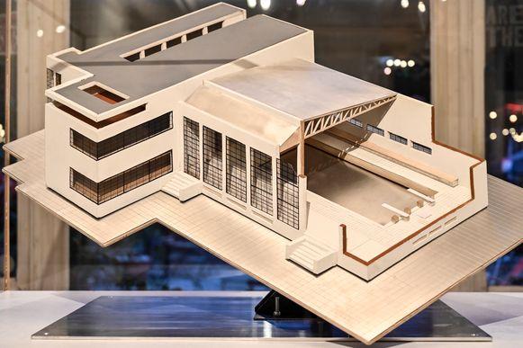 Voor een zwembad werd indertijd een modern gebouw uitgetekend. De realisatie kwam er evenwel niet.