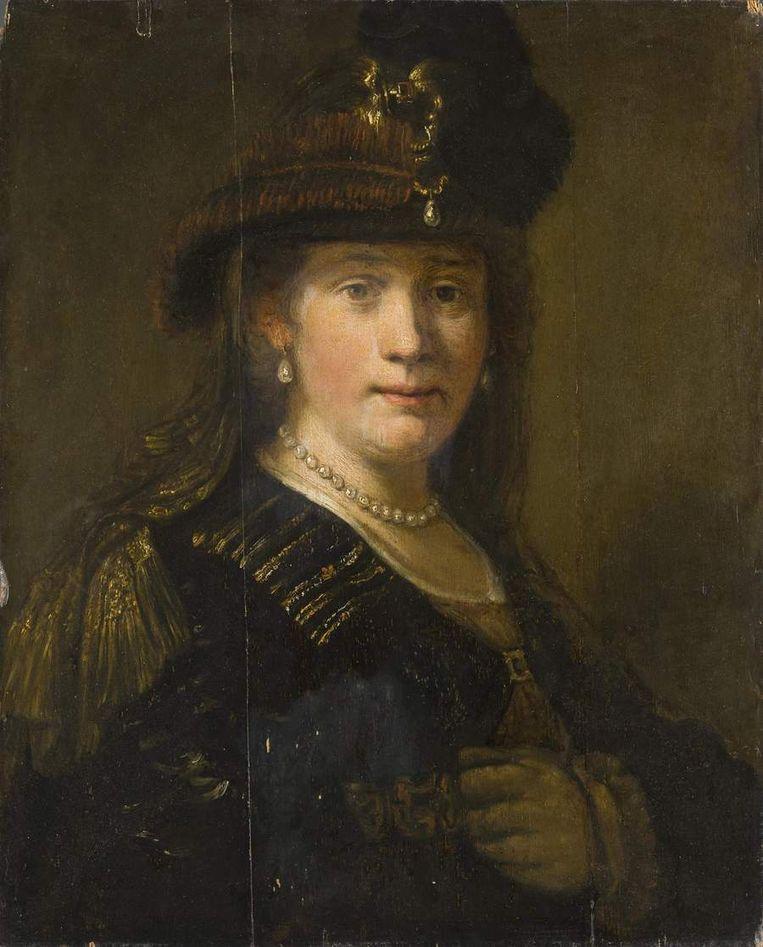 Het portret van Saskia Uylenburgh dat mogelijk door Rembrandt geschilderd is. Beeld null