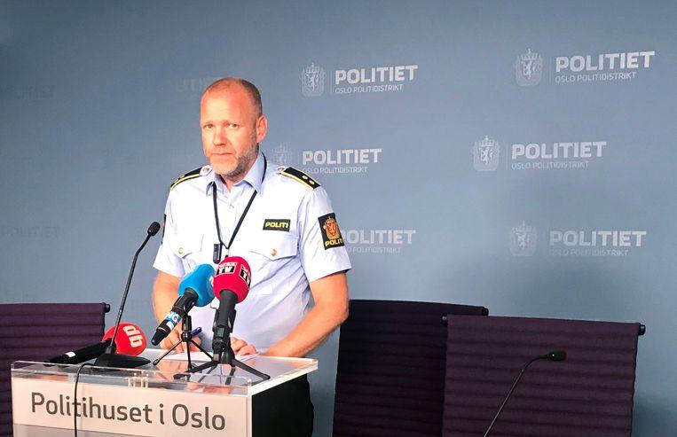 Politiechef Rune Skjold geeft meer toelicht op een persconferentie.
